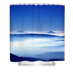 00704 Vulcanos Mexico Shower Curtain