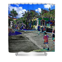 St Croix Stencil  Shower Curtain