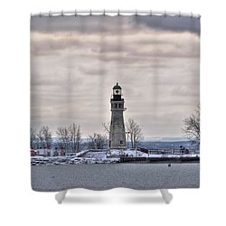 01 Winter Light House Shower Curtain