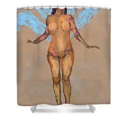 010715 Pastel Digital Fairy Shower Curtain