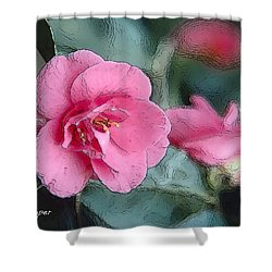 012 Pink Crystal Shower Curtain