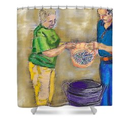 01252015 Boiling Louisiana Blue Crabs Shower Curtain
