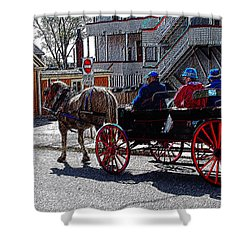 02162015 Buggy Ride Eastern Canada Shower Curtain