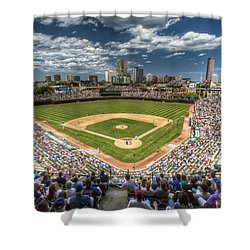 0234 Wrigley Field Shower Curtain by Steve Sturgill