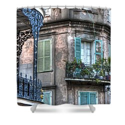 0254 French Quarter 10 - New Orleans Shower Curtain by Steve Sturgill