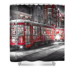 0271 Canal Street Trolley - New Orleans Shower Curtain