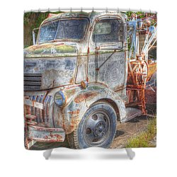 0281 Old Tow Truck Shower Curtain