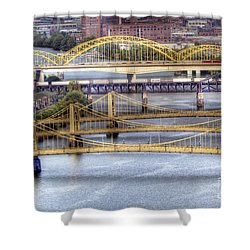 0307 Pittsburgh 8 Shower Curtain by Steve Sturgill