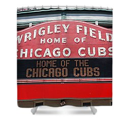 0334 Wrigley Field Shower Curtain by Steve Sturgill