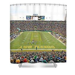 0349 Lambeau Field Panoramic Shower Curtain by Steve Sturgill