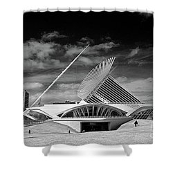 0352 Milwaukee Art Museum Infrared Shower Curtain