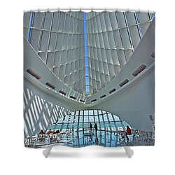 0354 Milwaukee Art Museum Shower Curtain