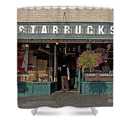 0370 First Starbucks Shower Curtain