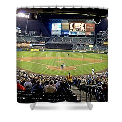 0434 Safeco Field Panoramic Shower Curtain