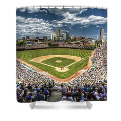 0443 Wrigley Field Chicago  Shower Curtain