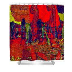 0486 Abstract Thought Shower Curtain
