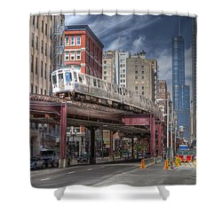 0489 Wabash Avenue Chicago Shower Curtain