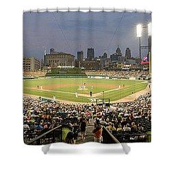 0555 Comerica Park Detroit Shower Curtain