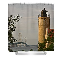 0558 Old Mackinac Point Lighthouse Shower Curtain