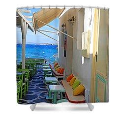 0560 Mykonos Greece Shower Curtain
