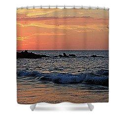 0581 Maui Sunset 2 Shower Curtain by Steve Sturgill
