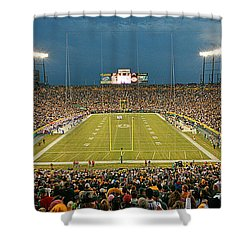 0614 Prime Time At Lambeau Field Shower Curtain