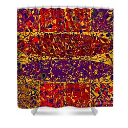0688 Abstract Thought Shower Curtain by Chowdary V Arikatla