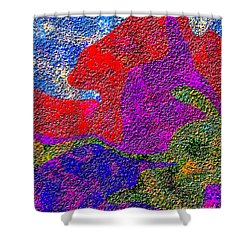 0732 Abstract Thought Shower Curtain by Chowdary V Arikatla