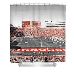 0813 Camp Randall Stadium Panorama Shower Curtain