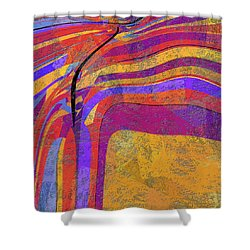 0871 Abstract Thought Shower Curtain by Chowdary V Arikatla