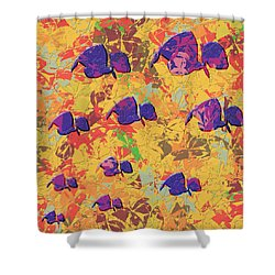 0886 Abstract Thought Shower Curtain by Chowdary V Arikatla