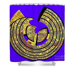 0985 Abstract Thought Shower Curtain by Chowdary V Arikatla