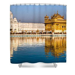 Golden Temple In Amritsar - Punjab - India Shower Curtain by Luciano Mortula