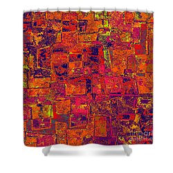 0295 Abstract Thought Shower Curtain by Chowdary V Arikatla
