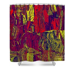 0479 Abstract Thought Shower Curtain by Chowdary V Arikatla