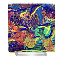 0627 Abstract Thought Shower Curtain