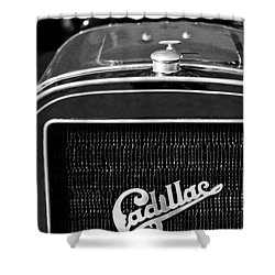 1907 Cadillac Model M Touring Grille Emblem Shower Curtain by Jill Reger