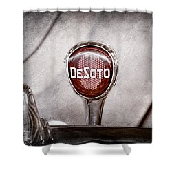 1934 Desoto Airflow Coupe Taillight Emblem Shower Curtain by Jill Reger