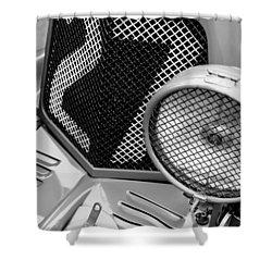 1935 Aston Martin Ulster Race Car Grille Shower Curtain by Jill Reger