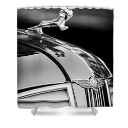 1937 Dodge Hood Ornament - Emblem Shower Curtain by Jill Reger