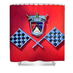 1955 Ford Thunderbird Emblem Shower Curtain by Jill Reger