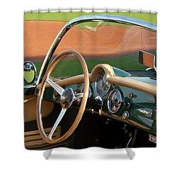 Shower Curtain featuring the photograph 1955 Lancia Aurelia B24 Spyder America Roadster by Jill Reger