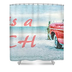 Life Is A Beach 57 Chevy Shower Curtain