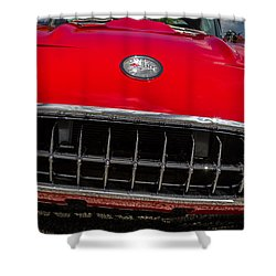 1958 Chevrolet Corvette Grille Shower Curtain