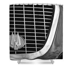 1960 Studebaker Hawk Grille Emblem Shower Curtain by Jill Reger