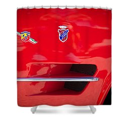 1962 Fiat Abarth 2300 S Coupe Emblems Shower Curtain by Jill Reger