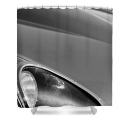 1963 Jaguar Xke Roadster Headlight Shower Curtain by Jill Reger