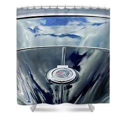 1967 Chevrolet Corvette Rear Emblem Shower Curtain by Jill Reger