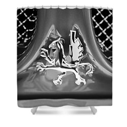 1969 Iso Grifo Grille Emblem Shower Curtain by Jill Reger