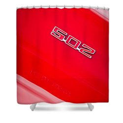 1970 Chevrolet Chevelle Ss 502 Emblem Shower Curtain by Jill Reger